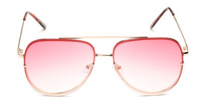 Front of Wilder #4772 in Gold Frame with Pink Gradient Lenses