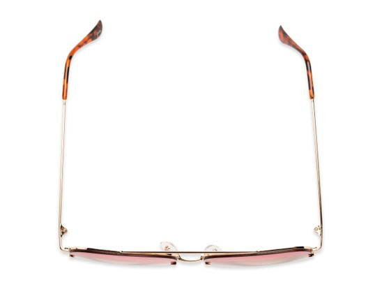Overhead of Wilder #4772 in Gold Frame with Pink Gradient Lenses
