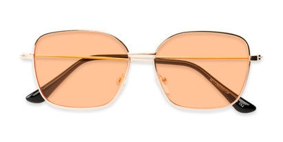 Folded of Willamette #17260 in Gold Frame with Living Coral Lenses