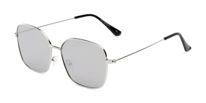 Angle of Willamette #17260 in Silver Frame with Silver Lenses, Women's Square Sunglasses