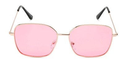 Front of Willamette #17260 in Gold Frame with Pink Lenses