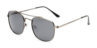Angle of Wilson in Grey Frame with Grey Lenses, Women's and Men's Square Sunglasses