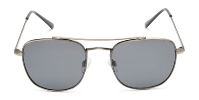 Front of Wilson in Grey Frame with Grey Lenses