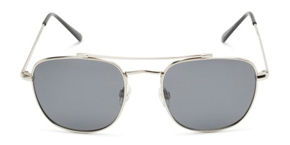 Front of Wilson #2202 in Silver Frame with Grey Lenses