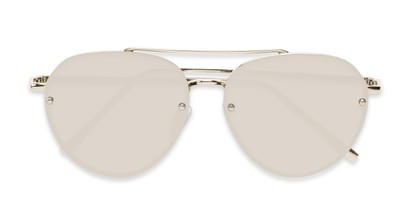 Folded of Wright #27075 in Silver Frame with Silver Mirrored Lenses