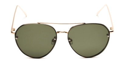 Front of Wright #27075 in Gold Frame with Green Lenses