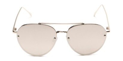 Front of Wright #27075 in Silver Frame with Silver Mirrored Lenses