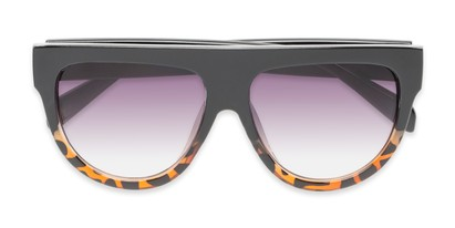 Folded of Wyatt #1614 in Black/Tortoise Frame with Smoke Gradient Lenses