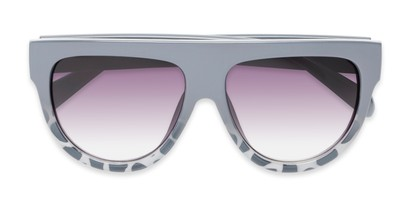 Folded of Wyatt #1614 in Grey/White Frame with Smoke Gradient Lenses