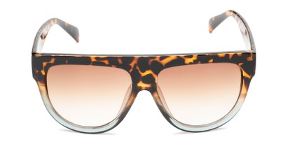 Front of Wyatt #1614 in Tortoise/Blue Frame With Amber Gradient Lenses