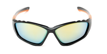 sport wrap mirrored lenses