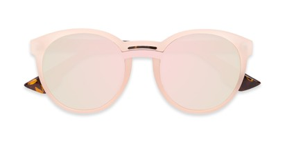 Folded of Zoey #97014 in Pink/Tortoise Frame with Pink Mirrored Lenses