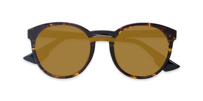 Folded of Zoey #97014 in Tortoise Frame with Gold Mirrored Lenses