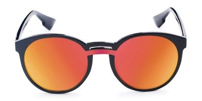 Front of Zoey #97014 in Black Frame with Red/Orange Mirrored Lenses