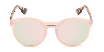 Front of Zoey #97014 in Pink/Tortoise Frame with Pink Mirrored Lenses
