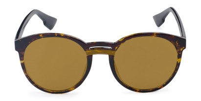 Front of Zoey #97014 in Tortoise Frame with Gold Mirrored Lenses