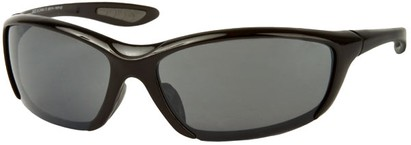 Angle of SW Sport Style #431 in Solid Black Frame with Smoke Lenses, Women's and Men's