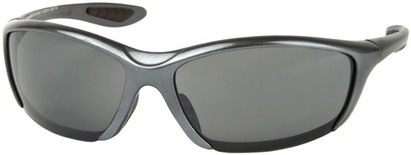Angle of SW Sport Style #431 in Grey Frame with Smoke Lenses, Women's and Men's
