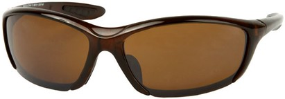 Angle of SW Sport Style #431 in Brown Frame with Amber Lenses, Women's and Men's
