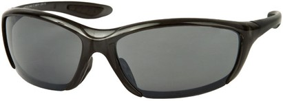 Angle of SW Sport Style #431 in Clear Black with Smoke Lenses, Women's and Men's