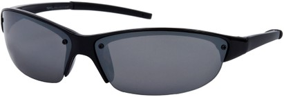 Angle of Talus #1245 in Glossy Black Frame, Women's and Men's Sport & Wrap-Around Sunglasses
