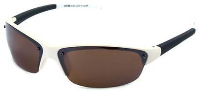 Angle of Talus #1245 in White and Black Frame, Women's and Men's Sport & Wrap-Around Sunglasses