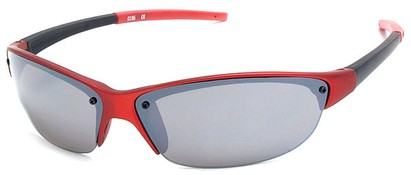 Angle of Talus #1245 in Red Frame, Women's and Men's Sport & Wrap-Around Sunglasses