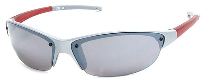 Angle of Talus #1245 in Silver and Red Frame, Women's and Men's Sport & Wrap-Around Sunglasses