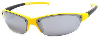 Angle of Talus #1245 in Yellow Frame, Women's and Men's Sport & Wrap-Around Sunglasses