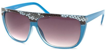Angle of SW Snake Print Style #8817 in Blue Frame, Women's and Men's