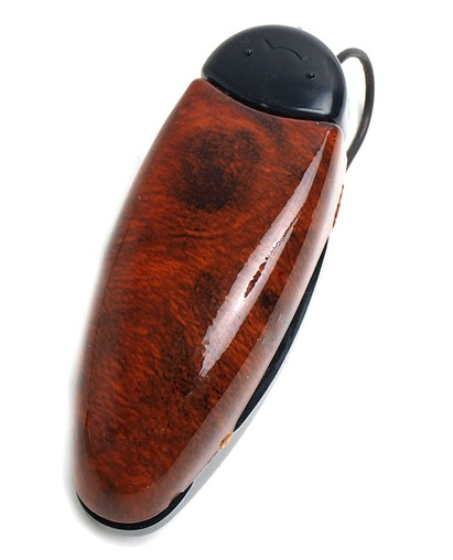 Angle of Colmar #102 in Brown Woodgrain, Women's and Men's  Visor Clip