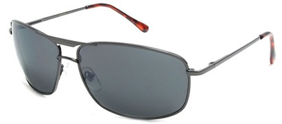 Angle of Delta #100 in Grey Frame with Smoke Lenses, Women's and Men's Aviator Sunglasses