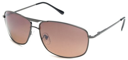 Angle of Delta #100 in Grey Frame with Brown Lenses, Women's and Men's Aviator Sunglasses