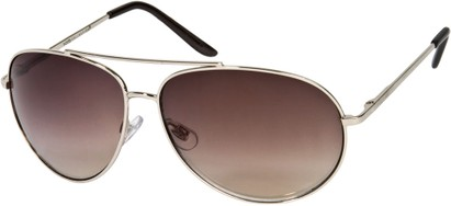 Angle of Trooper #1219 in Silver Frame with Smoke Lenses, Women's and Men's Aviator Sunglasses