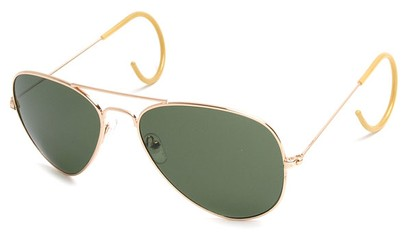 Angle of SW Aviator Style #540430 in Gold Frame, Women's and Men's