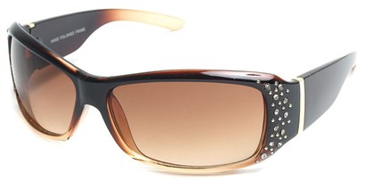 Angle of SW Rhinestone Style #8820 in Brown Fade Frame, Women's and Men's