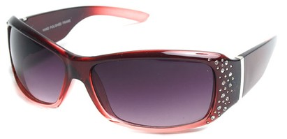 Angle of SW Rhinestone Style #8820 in Red Fade Frame, Women's and Men's