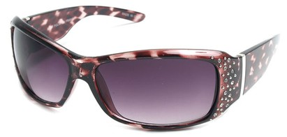 Angle of SW Rhinestone Style #8820 in Pink Tortoise Frame, Women's and Men's