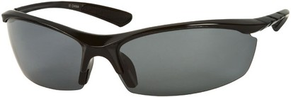 Angle of Coastline #8186 in Black Frame with Grey Lenses, Women's and Men's Sport & Wrap-Around Sunglasses