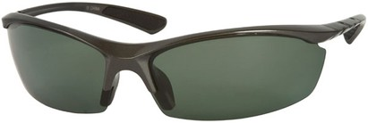 Angle of Coastline #8186 in Grey Frame with Grey Lenses, Women's and Men's Sport & Wrap-Around Sunglasses
