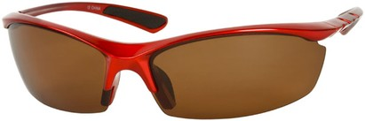 Angle of Coastline #8186 in Red Frame with Amber Lenses, Women's and Men's Sport & Wrap-Around Sunglasses
