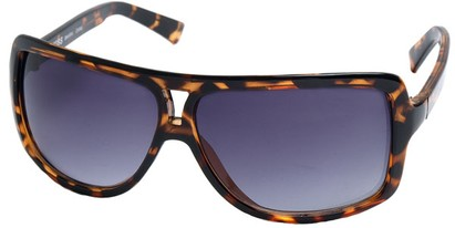 Angle of SW Oversized Aviator Style #1179 in Brown Tortoise Frame, Women's and Men's