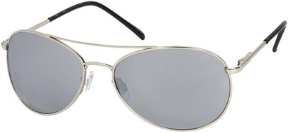 Angle of SW Aviator Style #1182 in Silver Frame with Smoke Lens, Women's and Men's