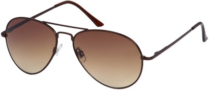 Angle of Jetsetter #1192 in Bronze Frame, Women's and Men's Aviator Sunglasses