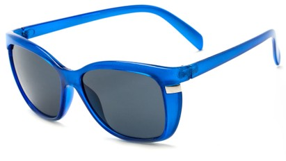 Angle of Queens #1919 in Blue Frame with Smoke Lenses, Women's Cat Eye Sunglasses