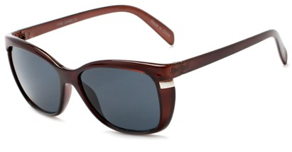 Angle of Queens #1919 in Brown Frame with Smoke Lenses, Women's Cat Eye Sunglasses