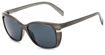 Angle of Queens #1919 in Grey Frame with Smoke Lenses, Women's Cat Eye Sunglasses