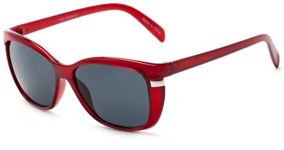 Angle of Queens #1919 in Red Frame with Smoke Lenses, Women's Cat Eye Sunglasses