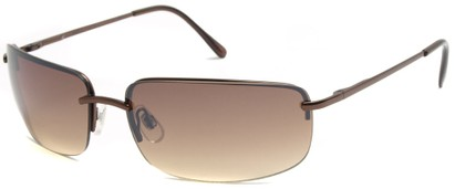 Angle of Flier #1196 in Bronze Frame with Gold Lenses, Women's and Men's Square Sunglasses