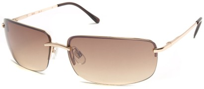 Angle of Flier #1196 in Gold Frame, Women's and Men's Square Sunglasses